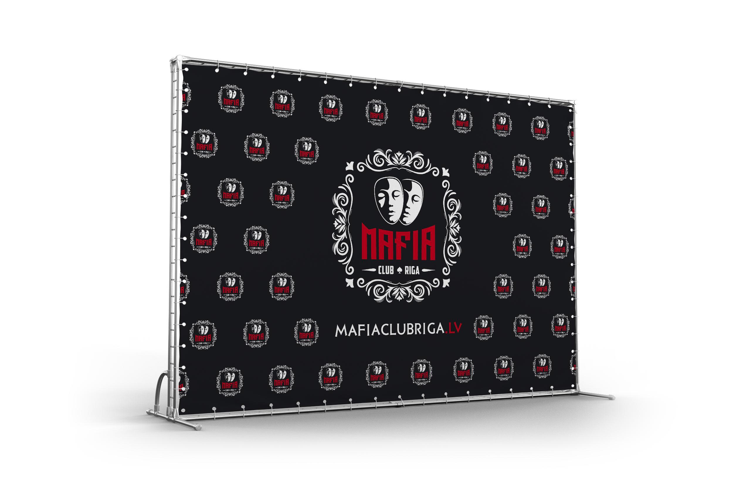 Разработка логотипа и элементов фирменного стиля для «Mafia Club Riga»